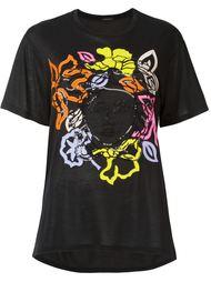 футболка с контрастным логотипом Versace