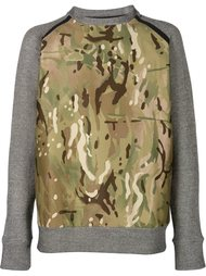 камуфляжный свитер с рукавами реглан Christopher Raeburn