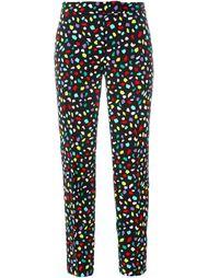 брюки с разноцветным принтом Boutique Moschino
