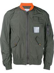 куртка-бомбер с контрастным воротником Kolor