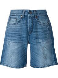 джинсовые шорты с потёртой отделкой P.A.R.O.S.H.