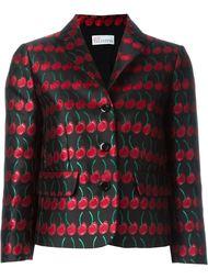 жаккардовый пиджак с принтом вишен Red Valentino