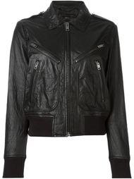 кожаная куртка с карманами на молнии  Diesel