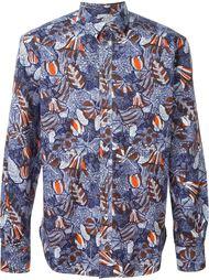 рубашка с цветочным принтом   Maison Kitsuné