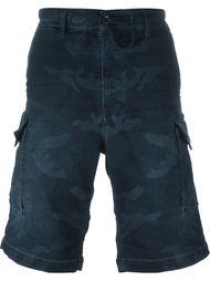 джинсовые шорты с камуфляжным принтом Diesel