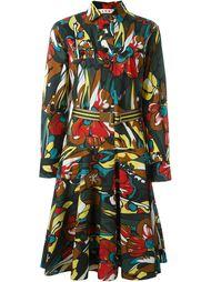 платье-рубашка с цветочным принтом  Marni