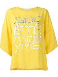 свободная футболка с принтом  Société Anonyme