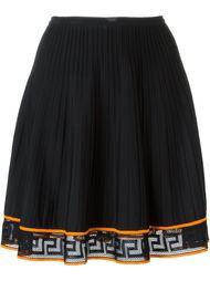 юбка с контрастным подолом Versace