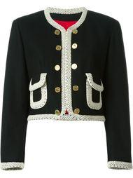 укороченный пиджак Moschino Vintage