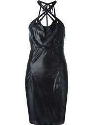 эластичное платье с перекрещивающимися лямками Krizia Vintage