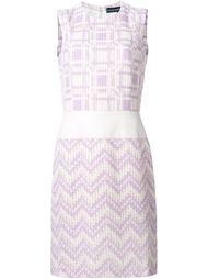 тканое платье без рукавов Jean Louis Scherrer Vintage