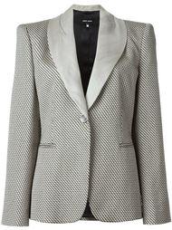 тканый пиджак с зигзагообразным узором Giorgio Armani Vintage