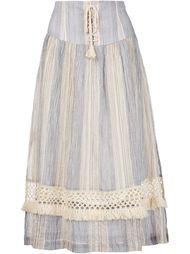 полосатая юбка со шнуровкой Sea