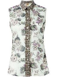 рубашка с цветочным принтом   Fay