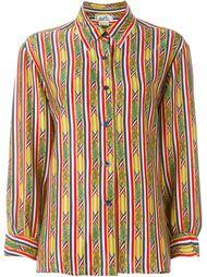 рубашка с бамбуковым принтом Hermès Vintage