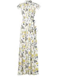 платье-рубашка с цветочным принтом Carolina Herrera