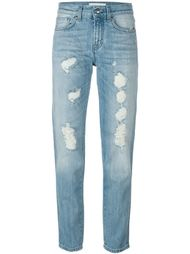 джинсы с потертой отделкой RoyRoger's x P.A.R.O.S.H. P.A.R.O.S.H.