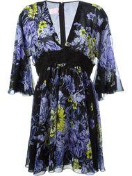 расклешенное платье с цветочным принтом Giamba