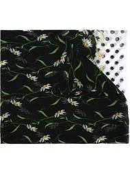 шарф в горох с цветочным принтом Dolce & Gabbana