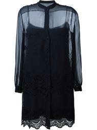 прозрачное платье-рубашка  Alberta Ferretti