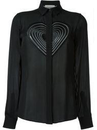 блузка с вышивкой в форме сердца Christopher Kane