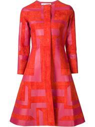пальто с геометрическим принтом Oscar de la Renta