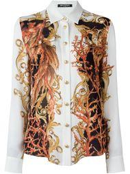 """рубашка с принтом в стиле """"барокко"""" Balmain"""