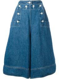 широки джинсовые кюлоты  Sacai