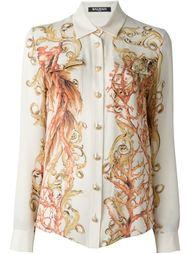рубашка с принтом барокко  Balmain