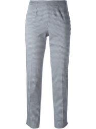 брюки с геометрическим узором Piazza Sempione