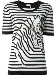 полосатая футболка с принтом зебры Sonia Rykiel