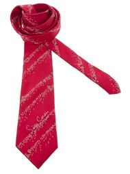 галстук в полоску и с надписью Pierre Cardin Vintage