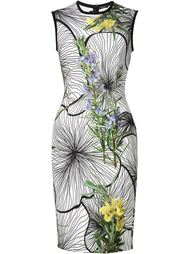 облегающее платье с цветочным принтом Yigal Azrouel