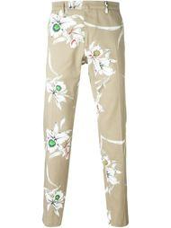 брюки с принтом орхидей  Valentino