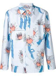 пиджак с цветочным принтом Julien David