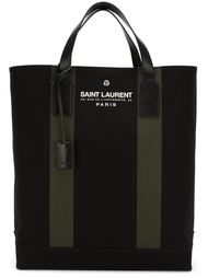 сумка-тоут с принтом логотипа Saint Laurent