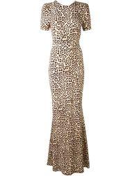 вечернее платье с леопардовым принтом  Givenchy