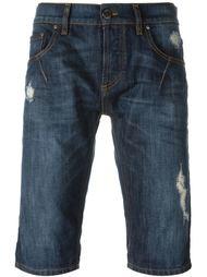 джинсовые шорты с потертой отделкой Les Hommes Urban