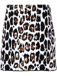 юбка с леопардовым принтом Sonia Rykiel