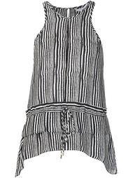 полосатая блузка с баской Derek Lam 10 Crosby