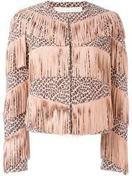 леопардовая куртка с бахромой Drome
