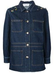 декорированный джинсовый пиджак  Sonia Rykiel