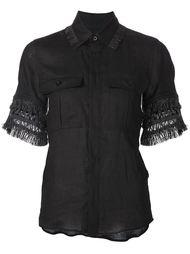 рубашка с отделкой из бахромы Toga