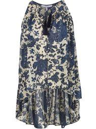блузка с цветочным принтом и кисточками Derek Lam 10 Crosby