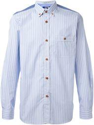 полосатая рубашка с панельным дизайном Junya Watanabe Comme Des Garçons Man