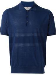 перфорированная вязаная футболка-поло  Canali