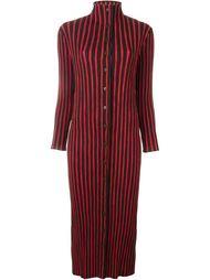 плиссированное полосатое платье Issey Miyake Vintage
