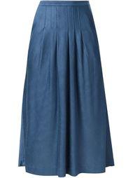 юбка ниже колена со складками Missoni Vintage