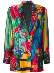 пиджак с комбинированным принтом Lanvin Vintage