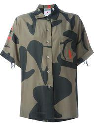 Рубашка с камуфляжным принтом Moschino Vintage